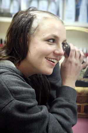Britney Spears Bald Tattoo Head